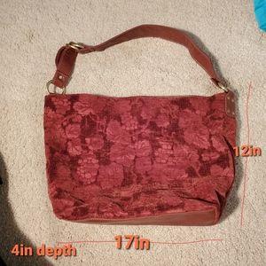Sonoma Bags - Sonoma Floral flower bag soft velvet with strap